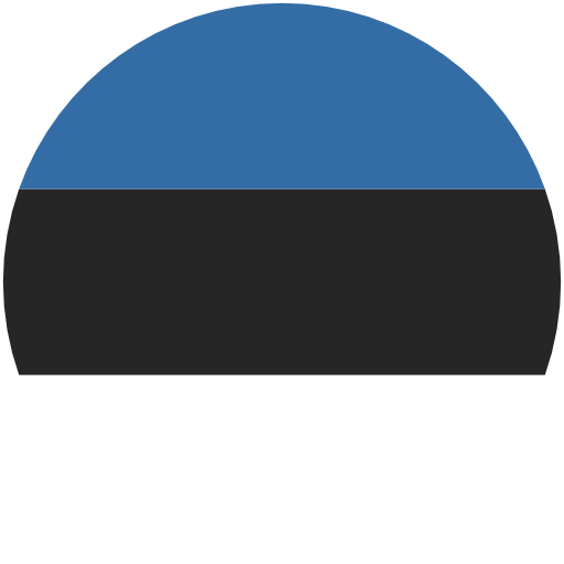 Estonian flag rounded, lt