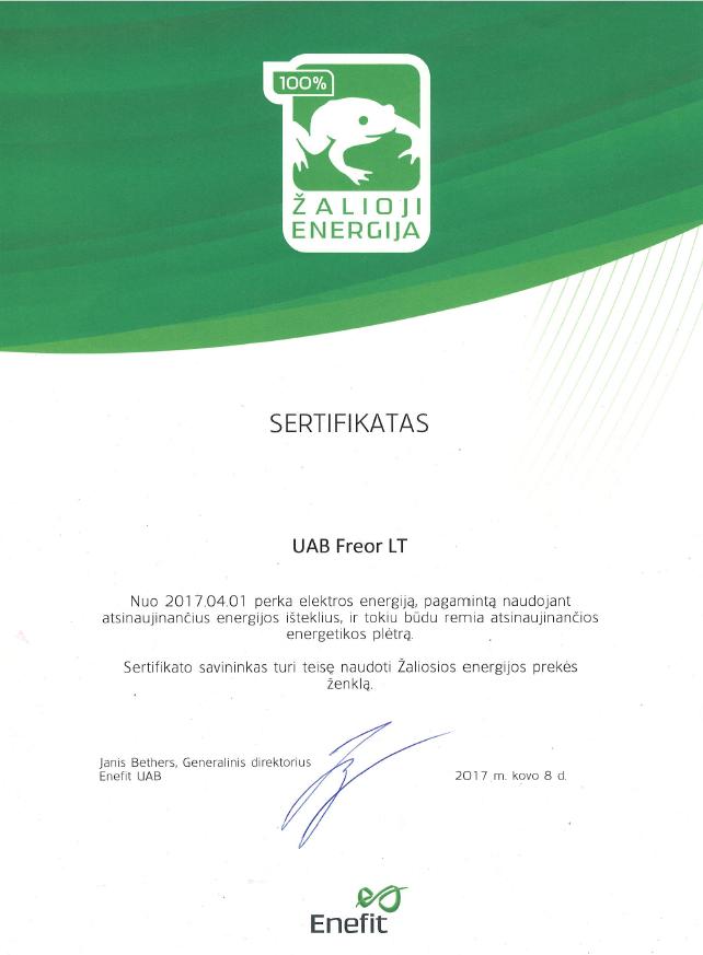 Žaliosios energijos pirkimo sertifikatas