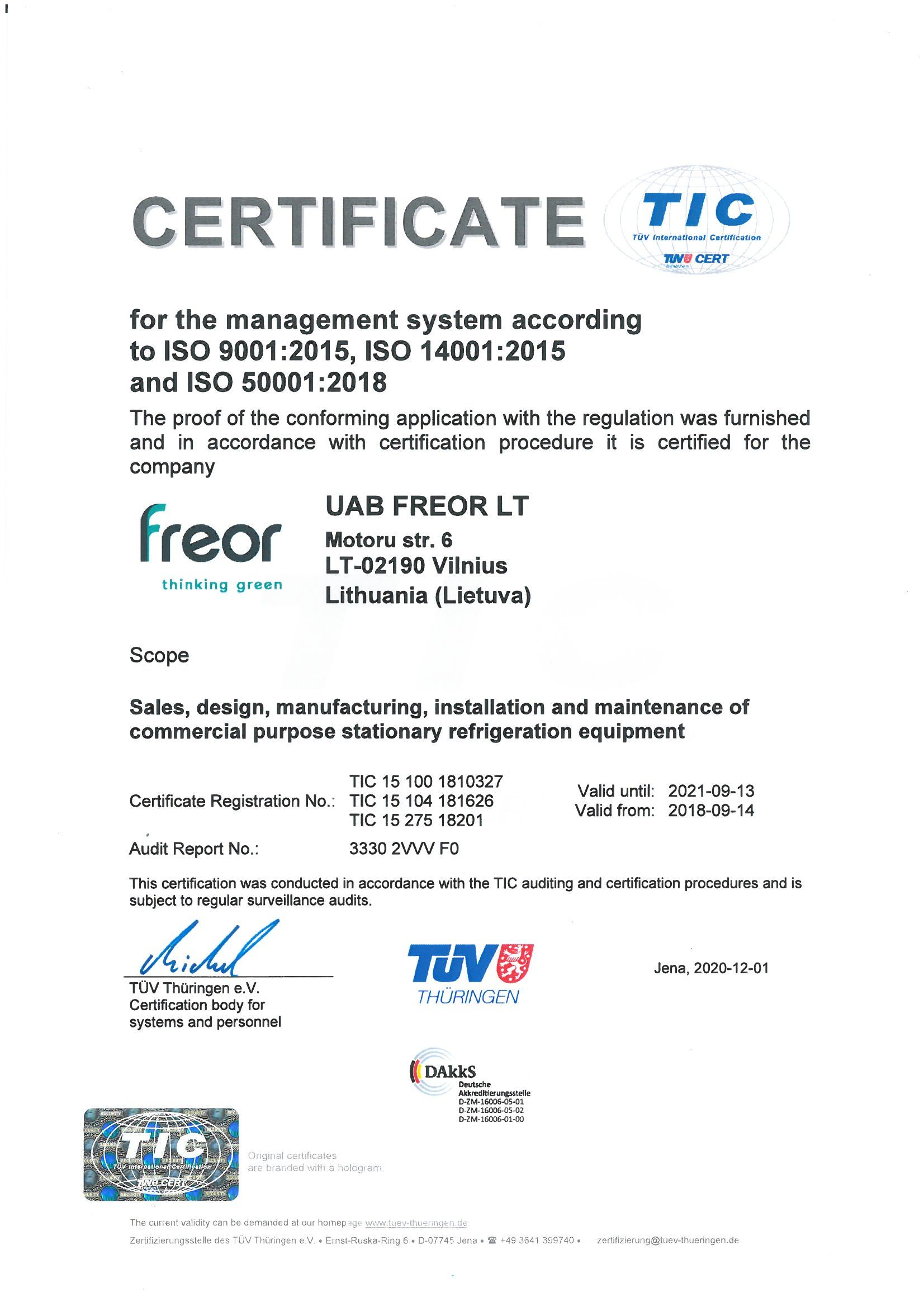 FREOR ISO certificate_TUV (1)