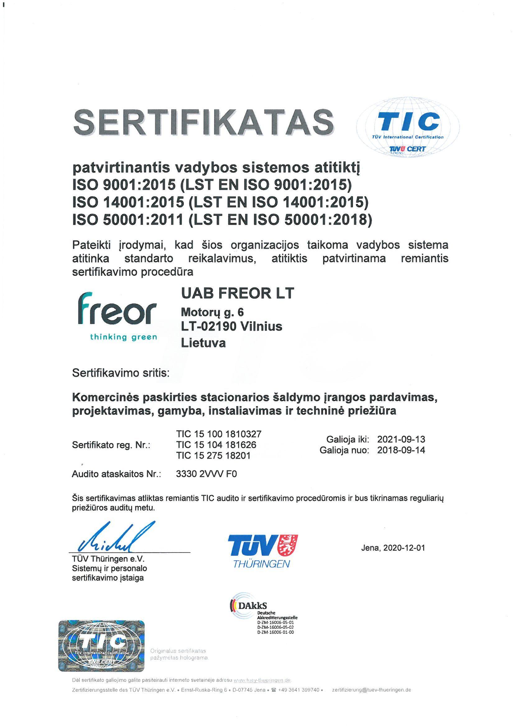 FREOR ISO sertifikatas_TUV