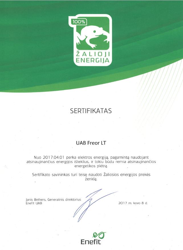 FREOR-Zaliosios-energijos-pirkimo-sertifikatas