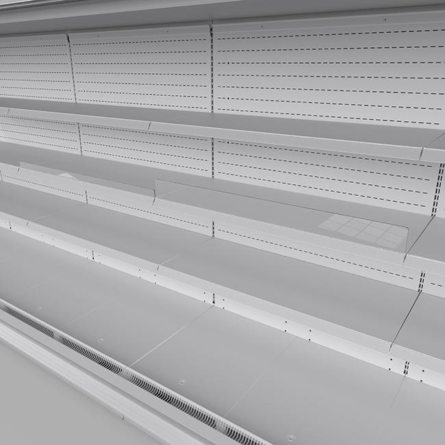 Plexiglass fence for shelf