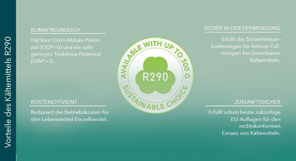R290 refrigerant benefits, illustration, DE,  FREOR