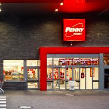 Penny store in Duisburg city, lt