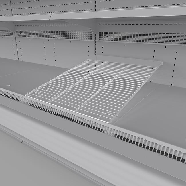 Wire bottom deck inclined