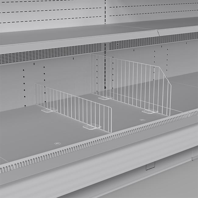 Wire divider for bottom deck