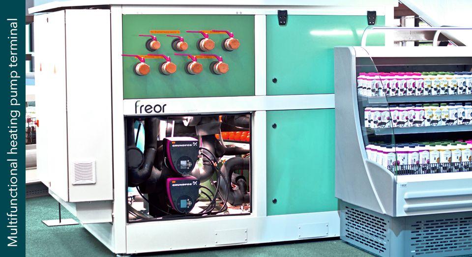 Multifunctional heating pump terminal, illustration, FREOR