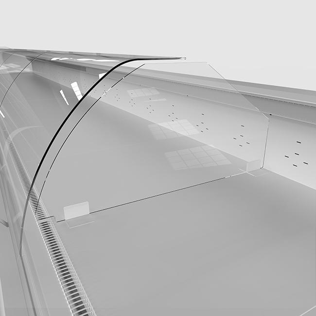 FREOR accessories high plexiglass divider