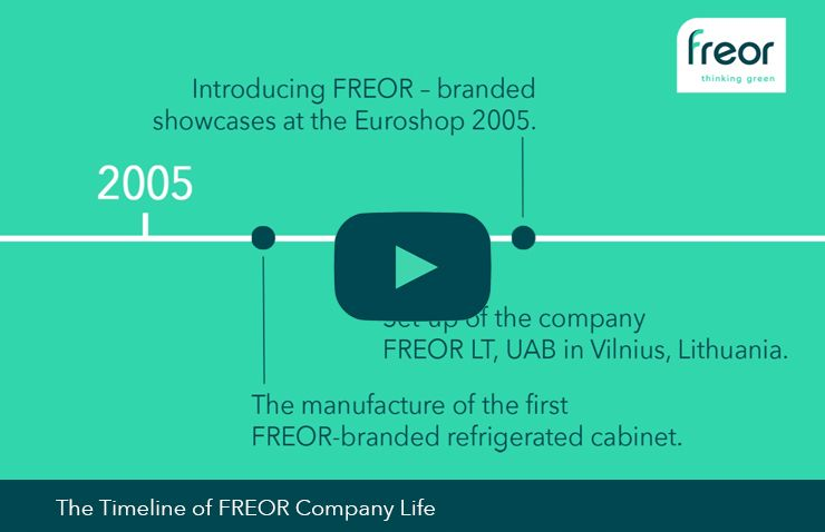 Company timeline video thumbnail, FREOR