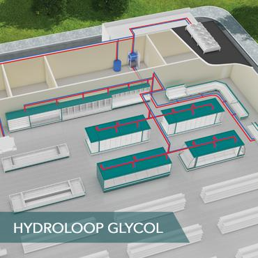 FREOR Hydroloop Glycol refrigeration system in warm climate countries