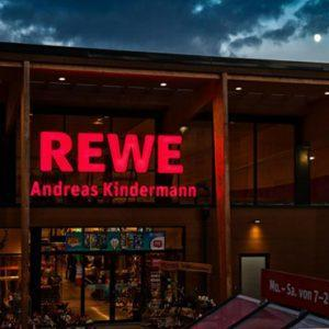 FREOR refrigeration equipment in REWE store