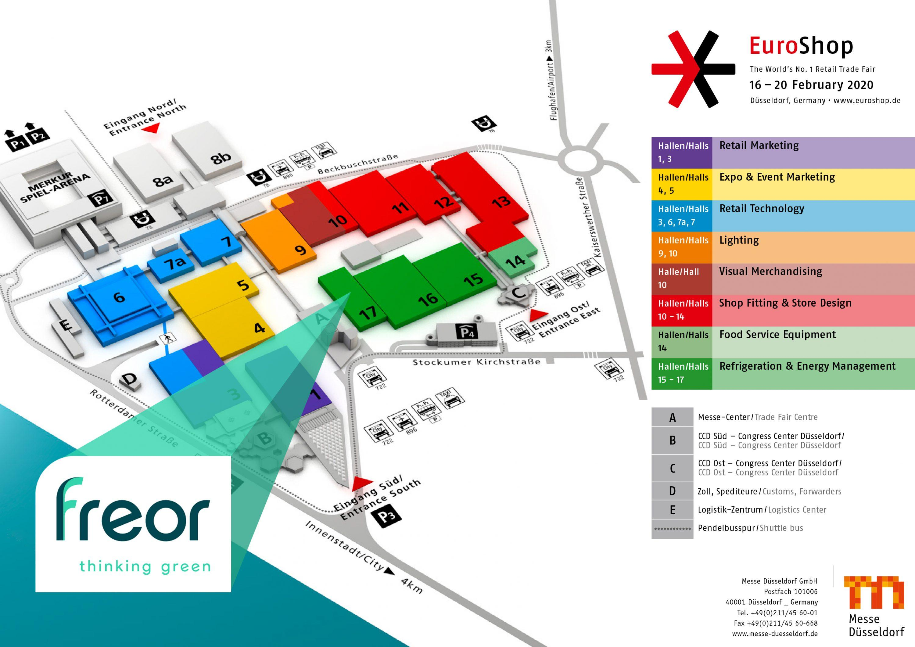 FREOR booth at Euroshop 2020 - Hall 17 / A74