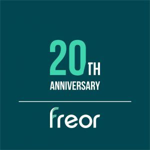 FREOR 20th anniversary logo