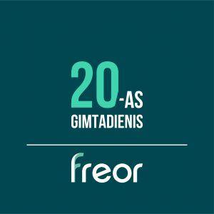 FREOR 20-as gimtadienis logotipas